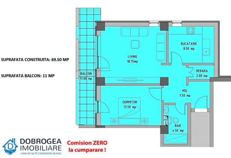 Complex E3 PLUS, 2 camere, Etaj 2, decomandat