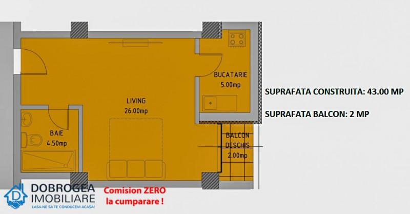 Complex E3 PLUS, Garsoniera, Etaj 1, ultramoderna