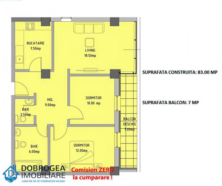 Complex E3 PLUS, 3 camere, Etaj 2, nou, finisaje superioare