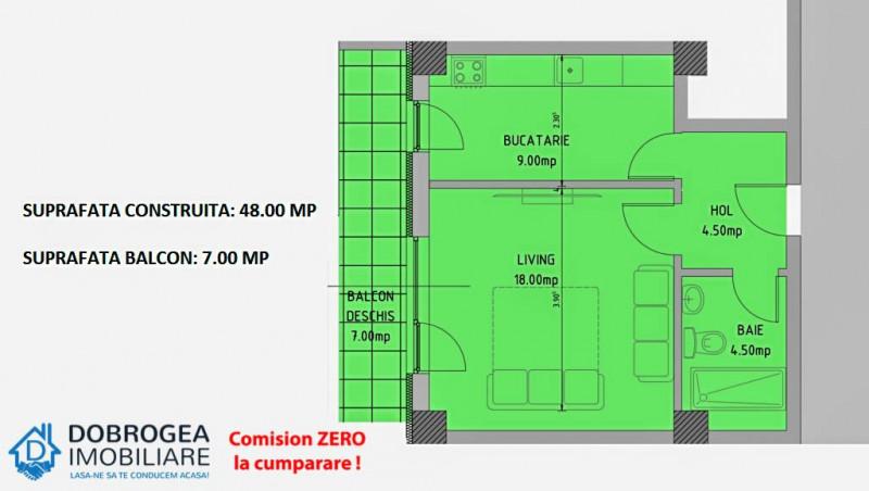 E3 PLUS, garsoniera decomandata, et. 1, spatii verzi, loc de joaca pt copii